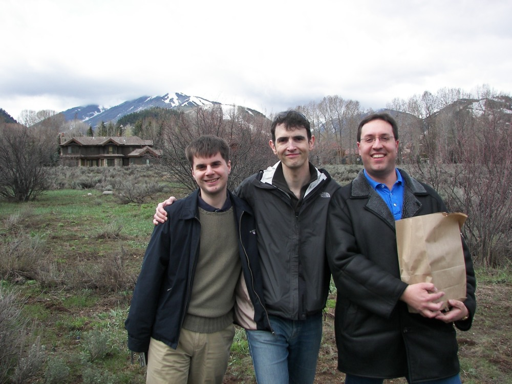 Edouard Alligand, Dave Abrahams, Christophe Henry in Aspen Meadow